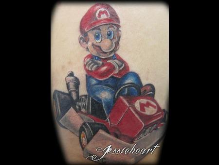 Mario  Mariokart  Color Tattoo Color
