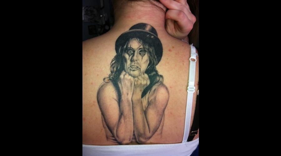 Alice Cooper  Portrait   Black White
