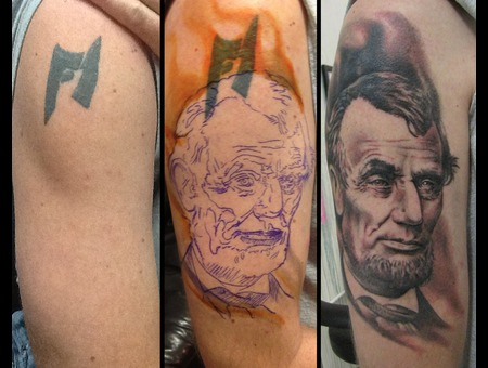 Portrait  Abraham  Lincoln  Coverup Black Grey