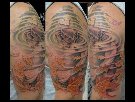 Gerrit verplank certified artist for Koi pond tattoo