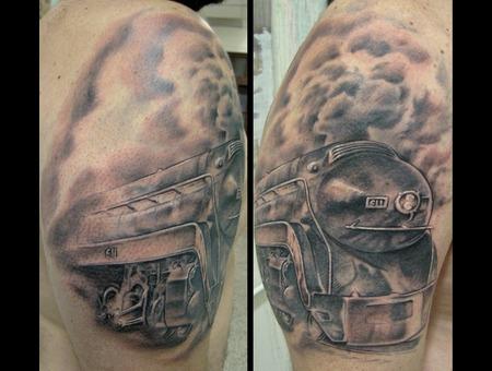 Train  Locomotive  Smoke  Realism Black White