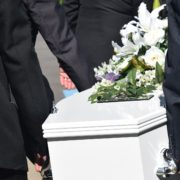 death, casket being carried