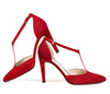 Christian 4 dark red suede image 8 low res