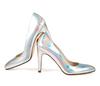Sandy 4 holographic silver metallic 3 web