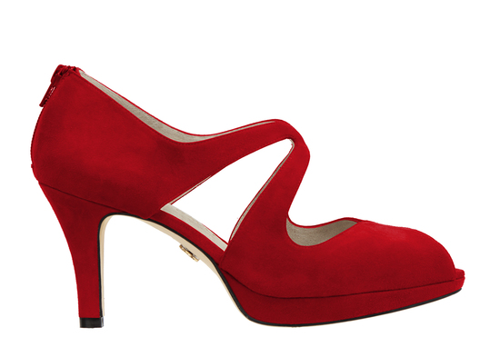 Beth anne 2s dark red suede image 2 low res
