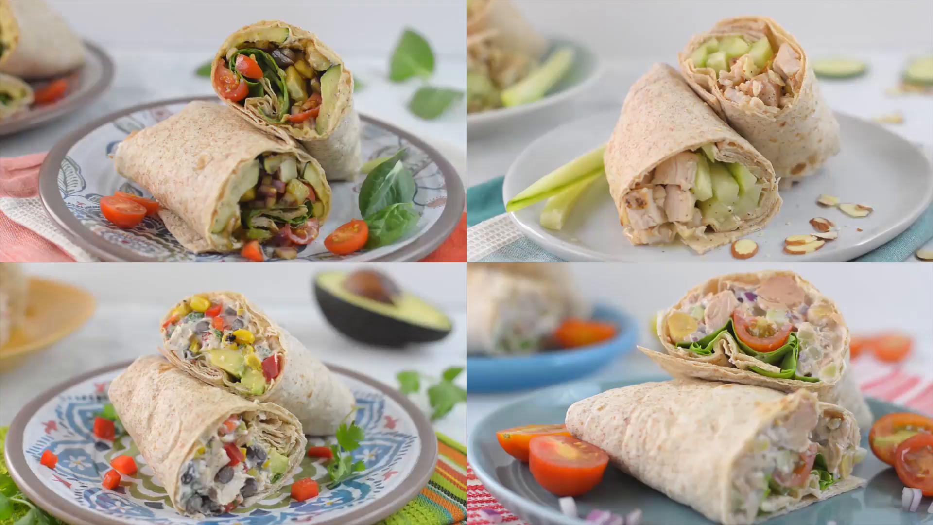 healthy wraps 4 ways healthy af tastemade