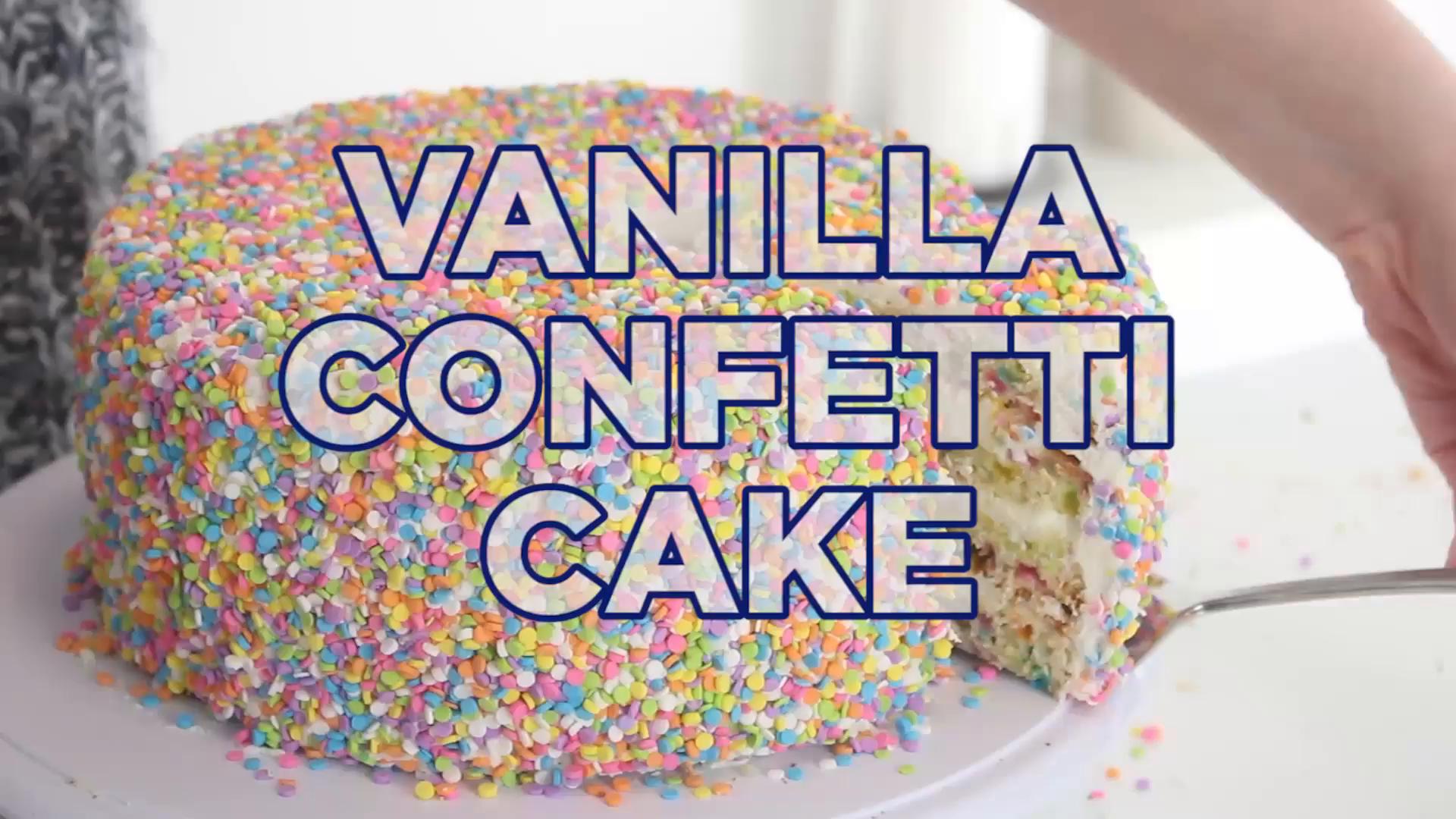 Vanilla Confetti Cake Recipe Tastemade