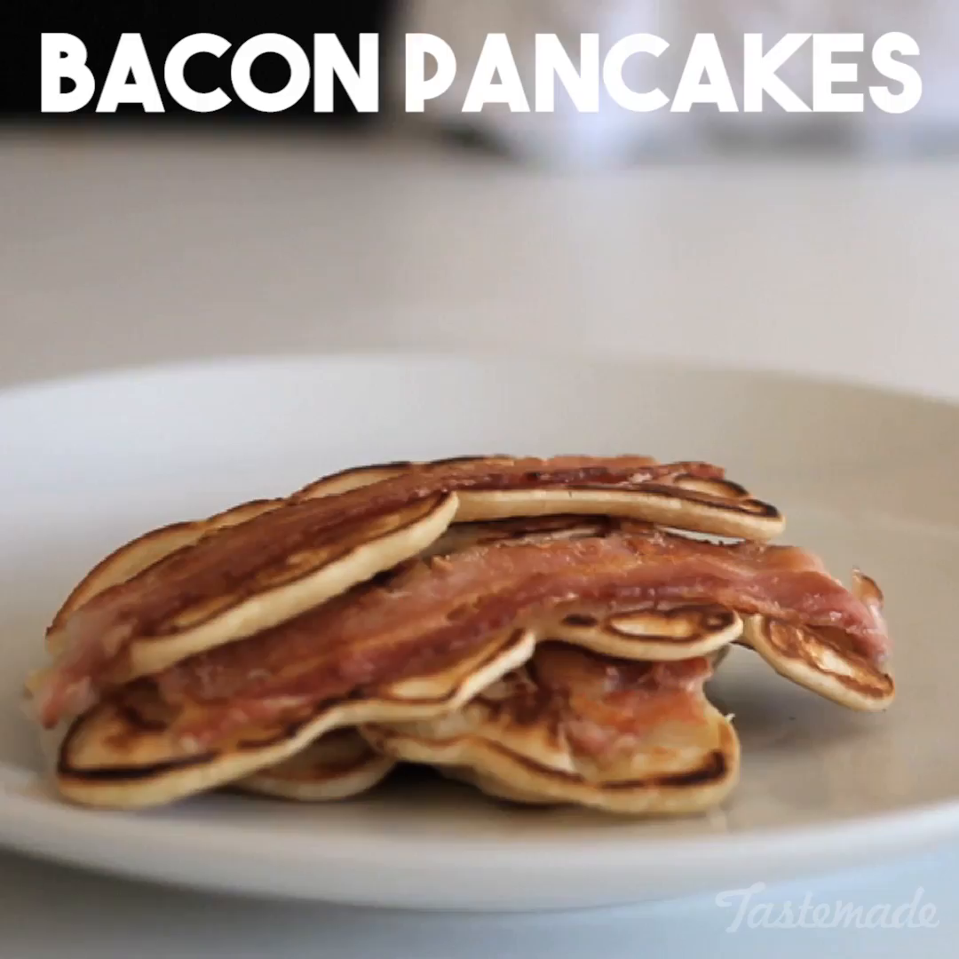 Bacon pancakes recipe tastemade ccuart Image collections