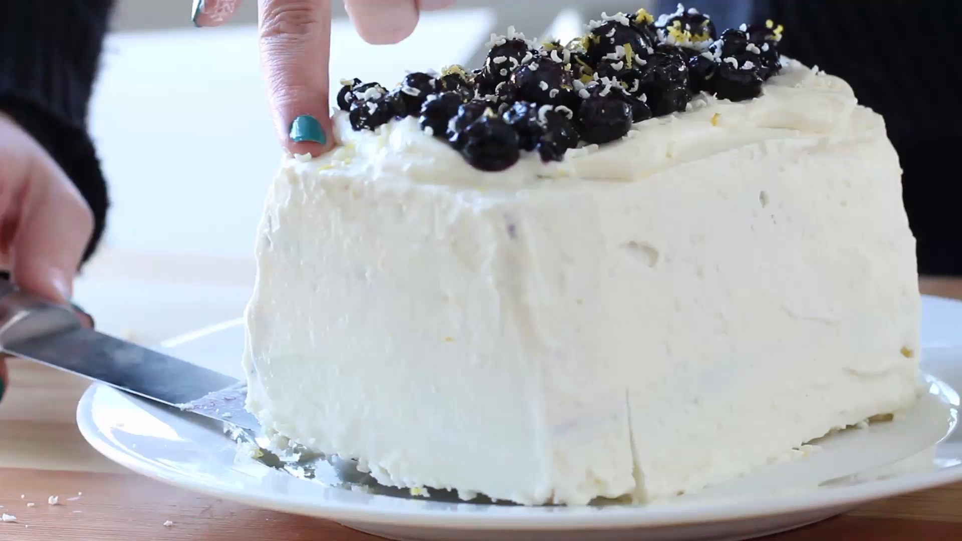 blueberry lemon icebox cake ~ recipe | tastemade