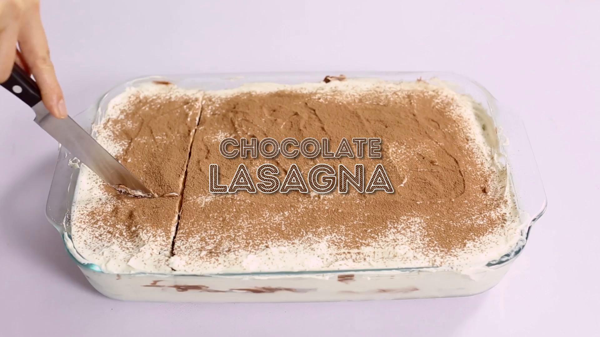 Chocolate Lasagna ~ Sweet AF | Tastemade