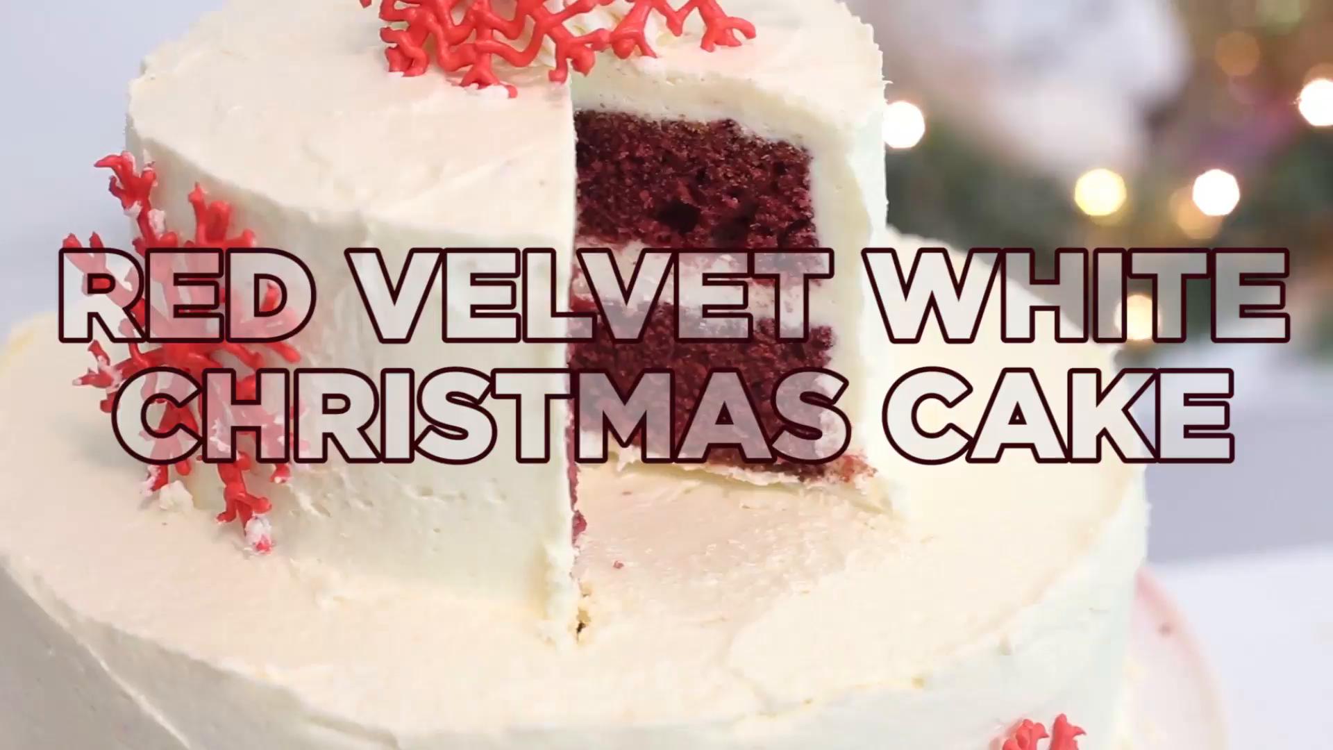 Red Velvet White Christmas Cake Recipe Tastemade