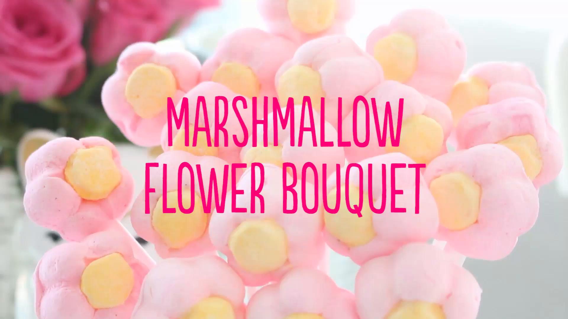 Marshmallow Flower Bouquet ~ Recipe   Tastemade