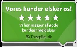 Vores kunder elsker os og giver Luxplus gode anmeldelser på Trustpilot