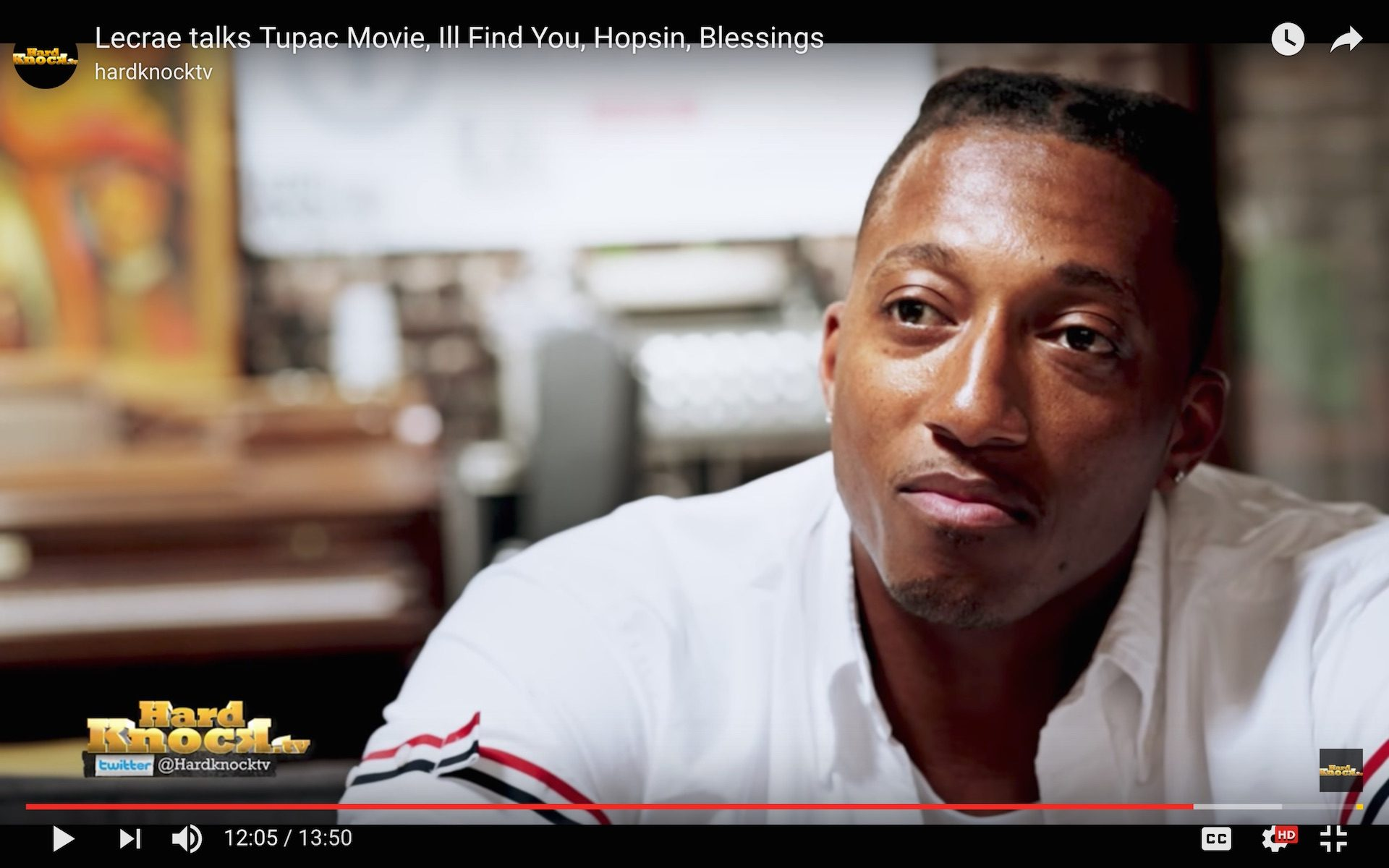 Lecrae Interview Hard Knock TV Part 1 at Truth Studios Recording Studio Los Angeles