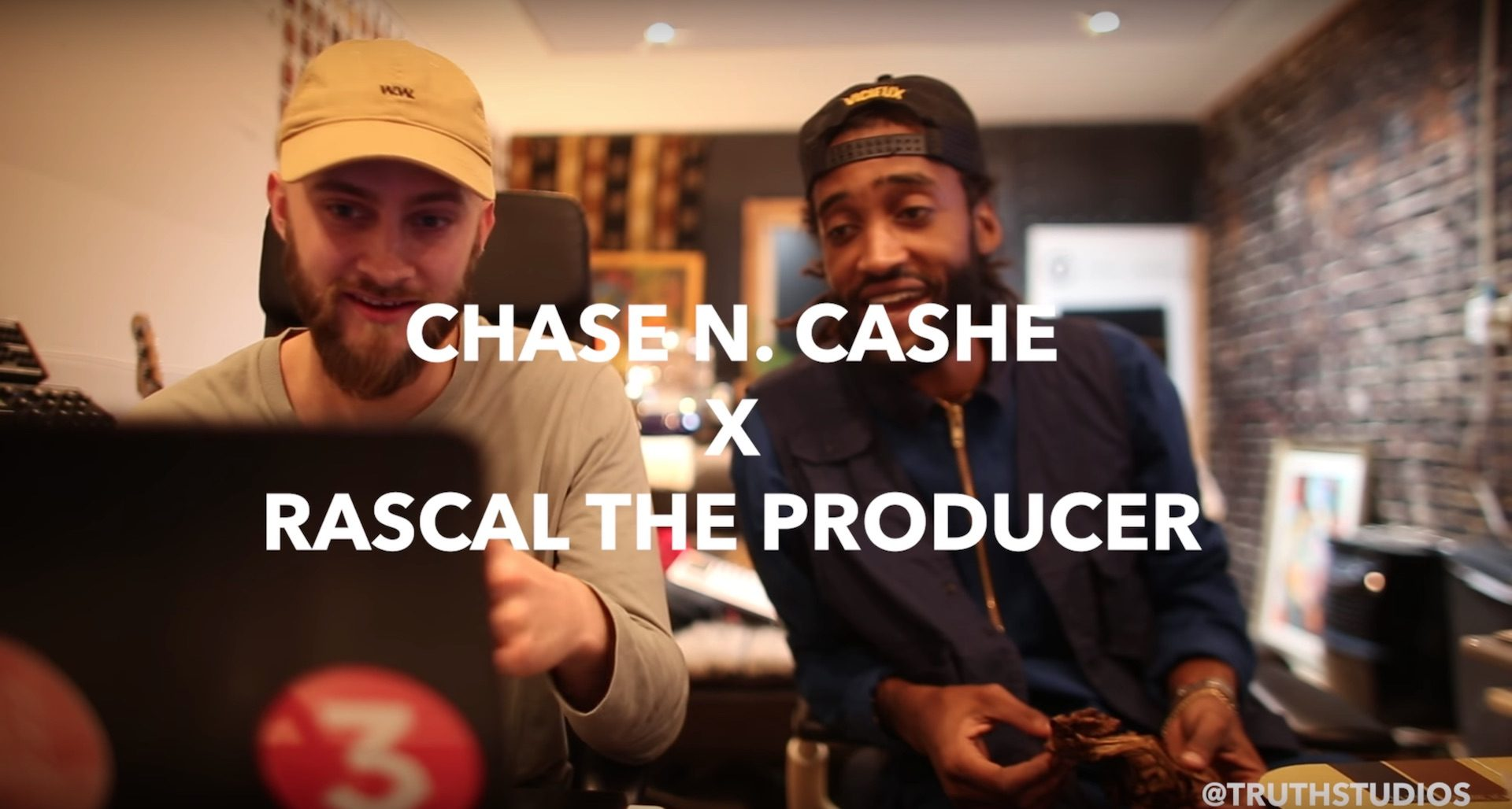 Chase N. Cashe x Rascal Making a Beat at Truth Studios