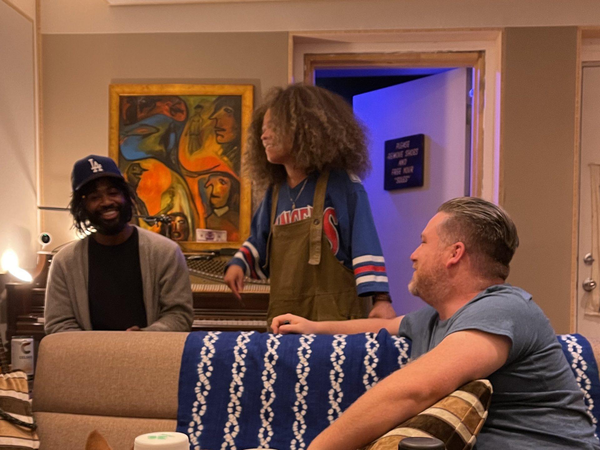Eryn Allen Kane, Marcus Semaj & Tim Suby Recording Session