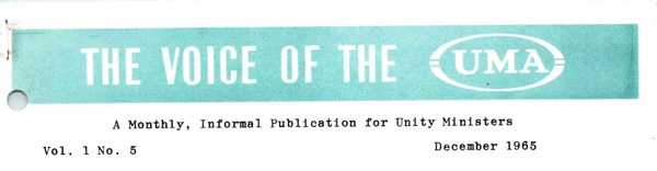 Masthead from Dec 1965 UMA Newslette