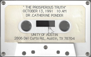 Cassette of Catherine Ponder talk The Prosperous Truth