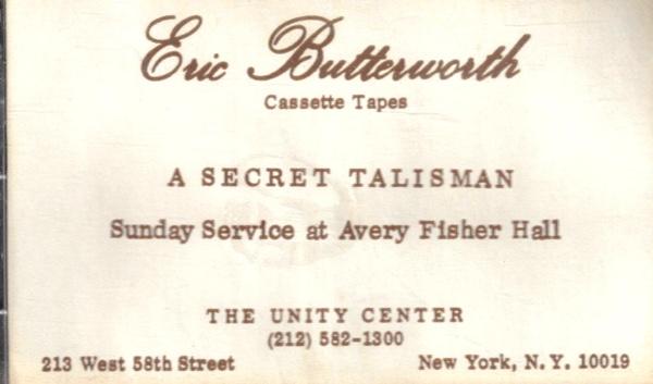 Eric Butterworth Sunday Services — A Secret Talisman