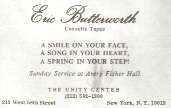 Eric Butterworth Sunday Services — A Smile On Your Face