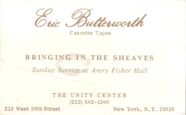 Eric Butterworth Sunday Services — Bringing in the Sheaves