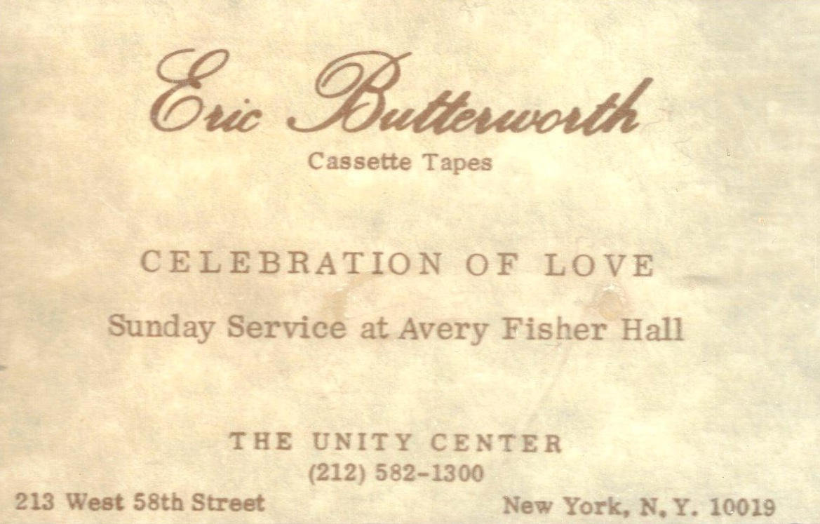 Eric Butterworth Sunday Services — Celebration of Love