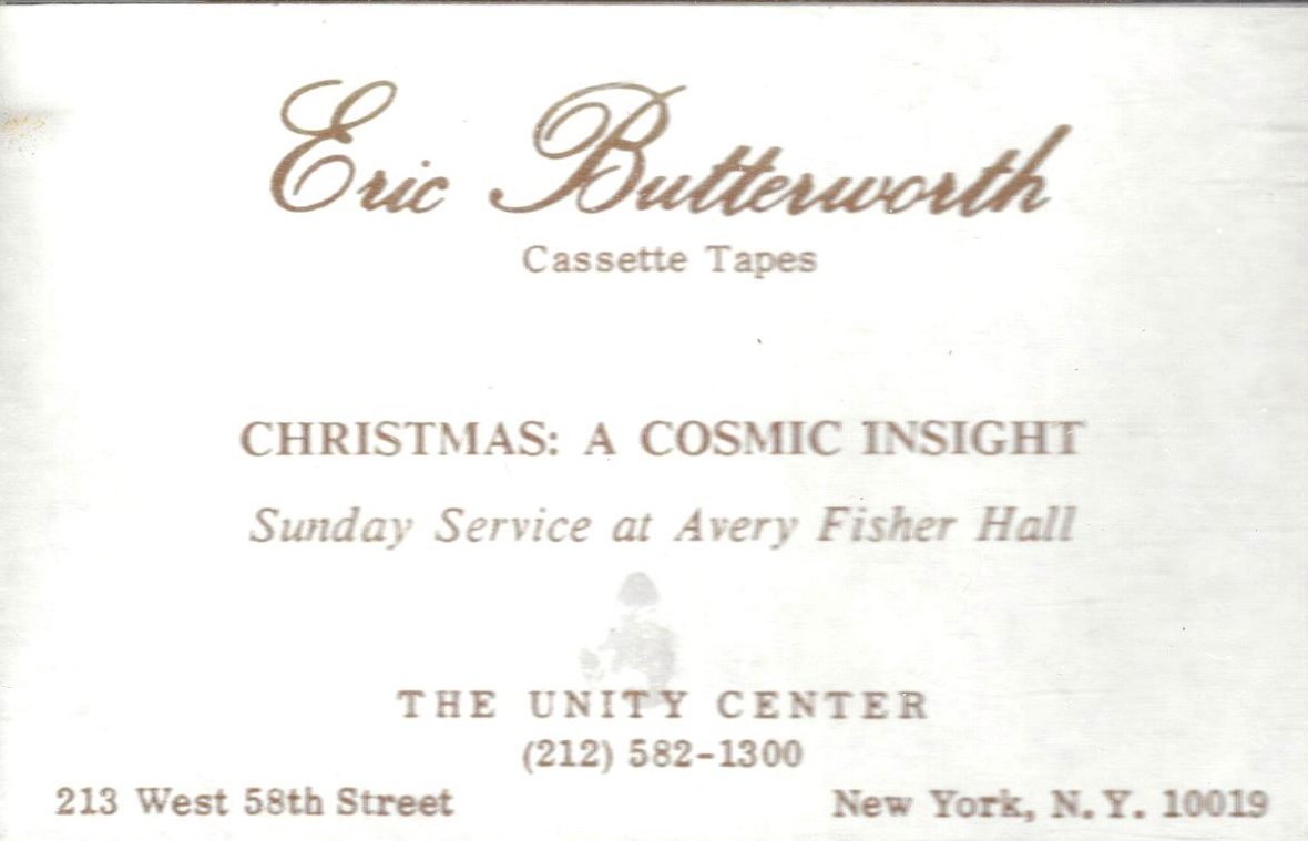 Eric Butterworth Sunday Services — Christmas: A Cosmic Insight