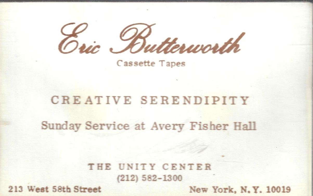 Eric Butterworth Sunday Services — Creative Serendipity