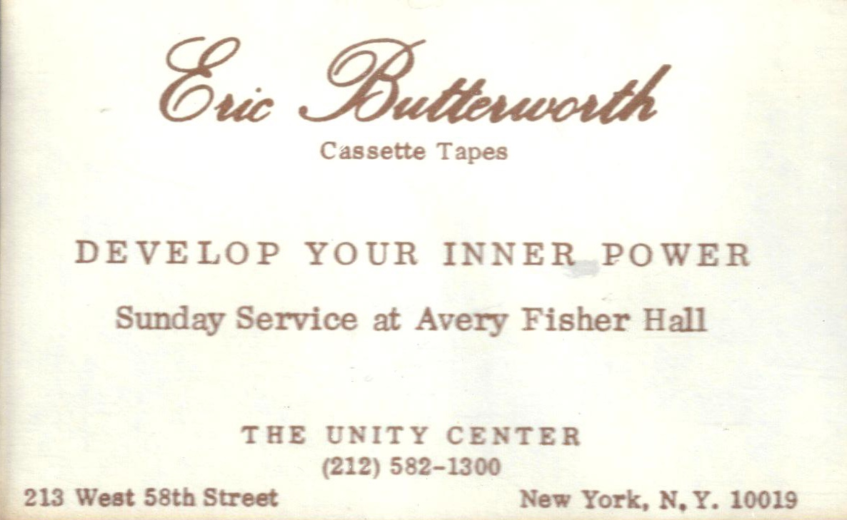 Eric Butterworth Sunday Services — Develop Your Inner Power