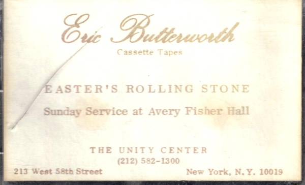 Eric Butterworth Sunday Services — Easter's Rolling Stone