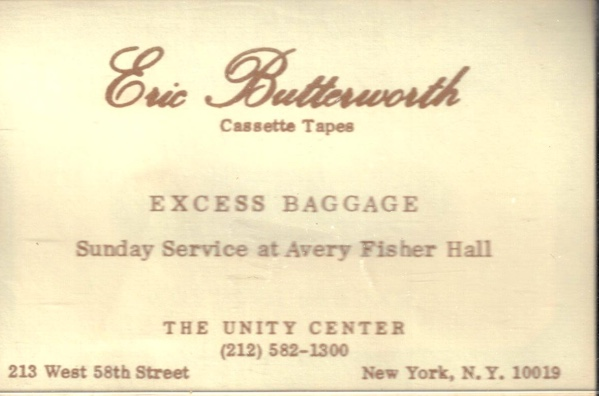 Eric Butterworth Sunday Services — Excess Baggage