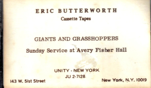 Eric Butterworth Sunday Services — Giants and Grasshoppers