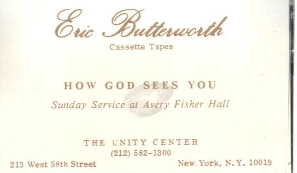 Eric Butterworth Sunday Services — How God Sees You