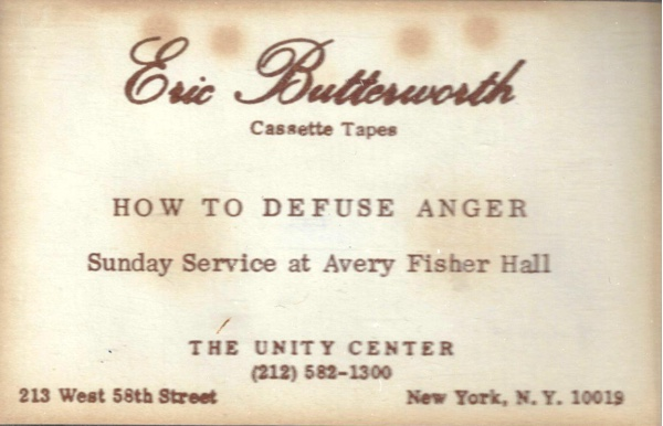 Eric Butterworth Sunday Services — How to Defuse Anger