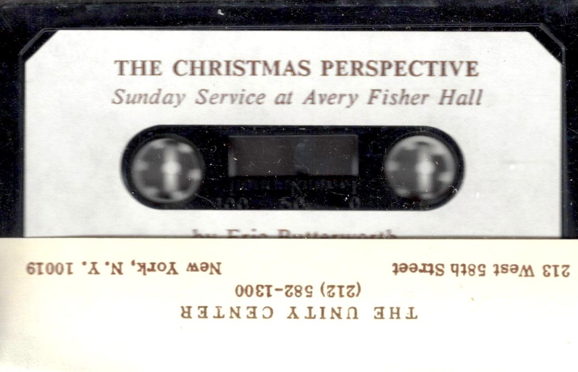 Eric Butterworth Sunday Services — The Christmas Perspective