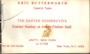 Eric Butterworth Sunday Services — The Easter Perspective