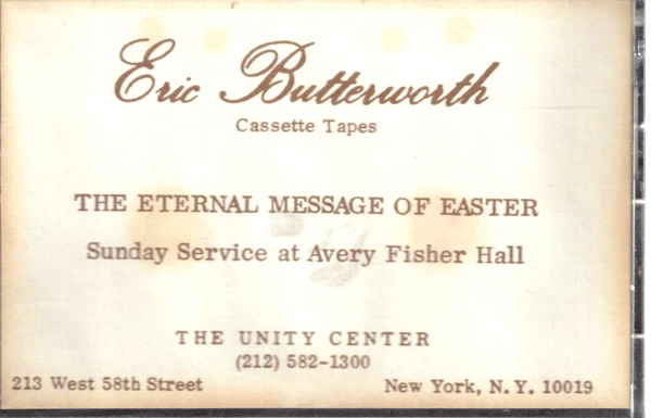 Eric Butterworth Sunday Services — Its a New Ballgame