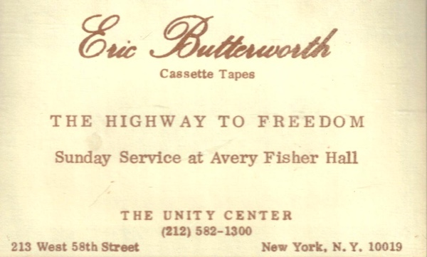 Eric Butterworth Sunday Services — The Highway to Freedom