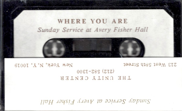Eric Butterworth Sunday Services — Where You Are