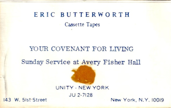Eric Butterworth Sunday Services — Your Covenant for Living