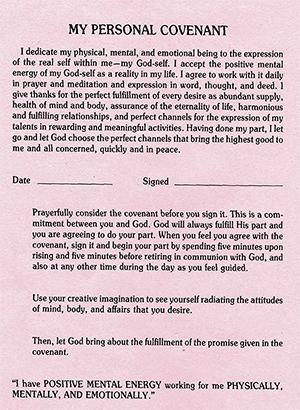 Successful Living Through Self-Awareness Covenant
