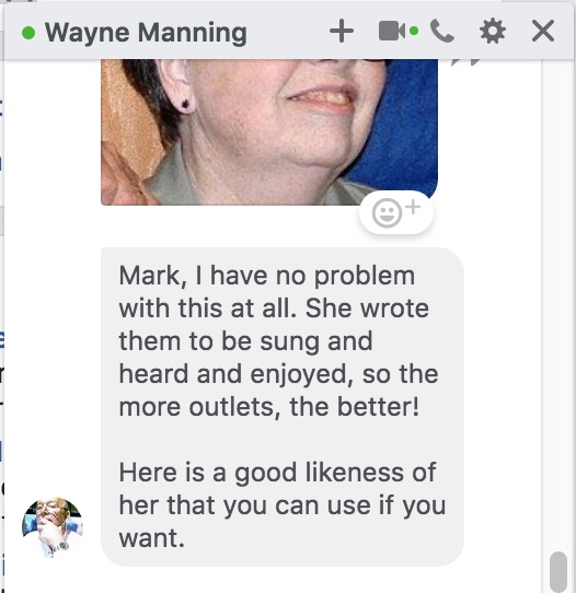 Wayne Manning blessings to publish