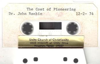 John Rankin The Cost of Pioneering