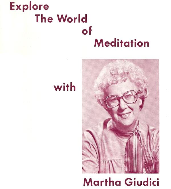 Album cover for Martha Giudici The World of Meditation