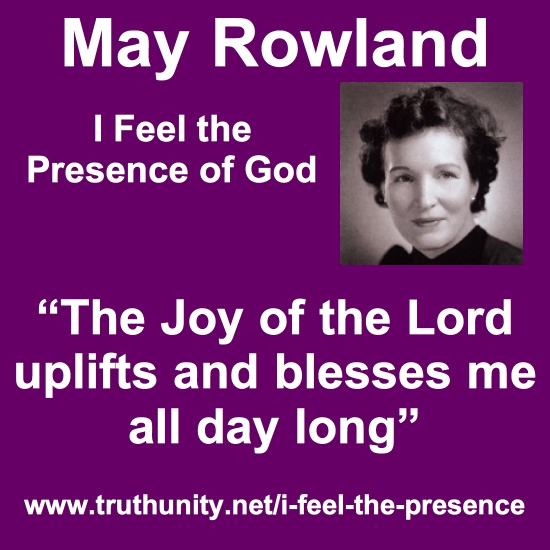 May Rowland I Feel the Presence of God block