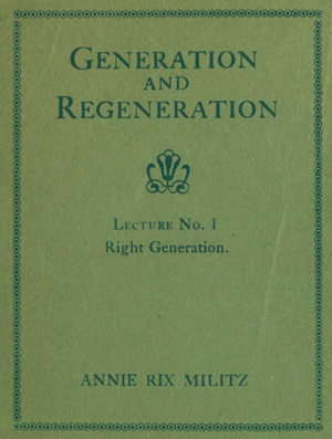 Generation and Regeneration Cover
