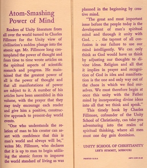 Charles Fillmore Atom-Smashing Power of Mind Inside Cover