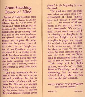 Charles Fillmore Atom-Smashing Power of Mind Inside Cover