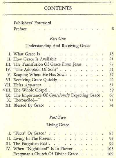 Table of Contents for The Master Key To Every Kingdom: Grace by Crichton Russ Boatwright