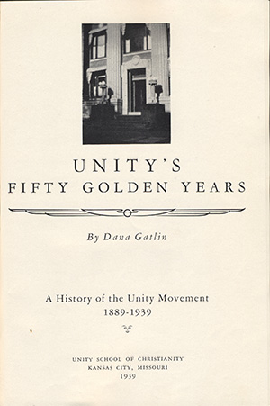 Unity's Fifty Golden Years Title Page